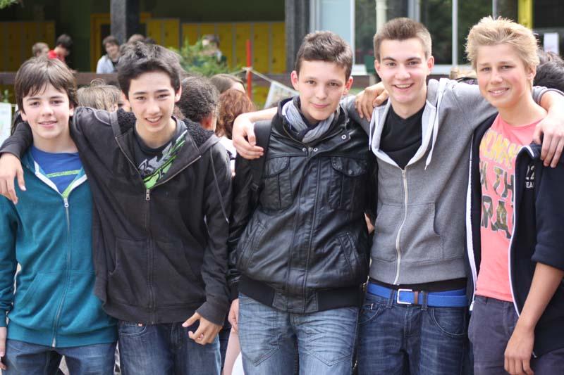 5 boys, College International de Fontainebleau Anglophone Section