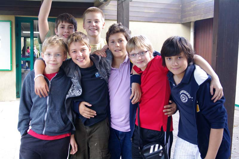 Seven boys at Buthiers trip, Fontainebleau International Schools Anglophone Section