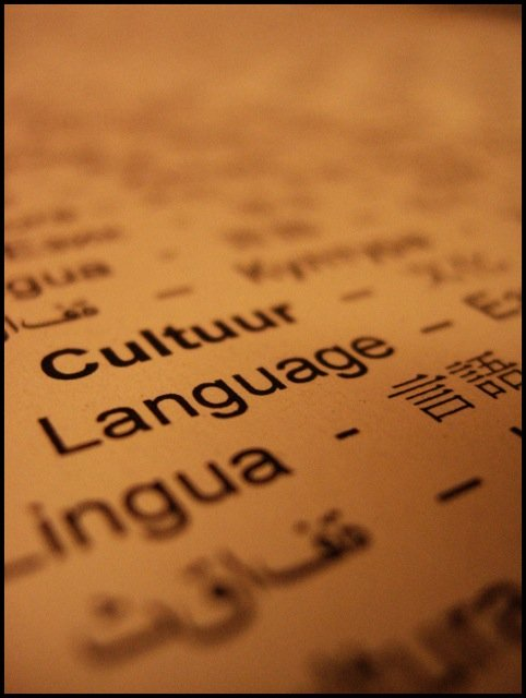 culture language closeup