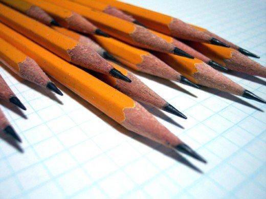 pencils on block paper